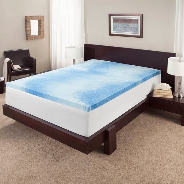 finest selection b652a 6912c Touch of Comfort 3-inch Gel Memory Foam Mattress Topper