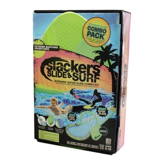 Slackers Slide and Surf Screamin' 30-foot Water Slide Combo Kit
