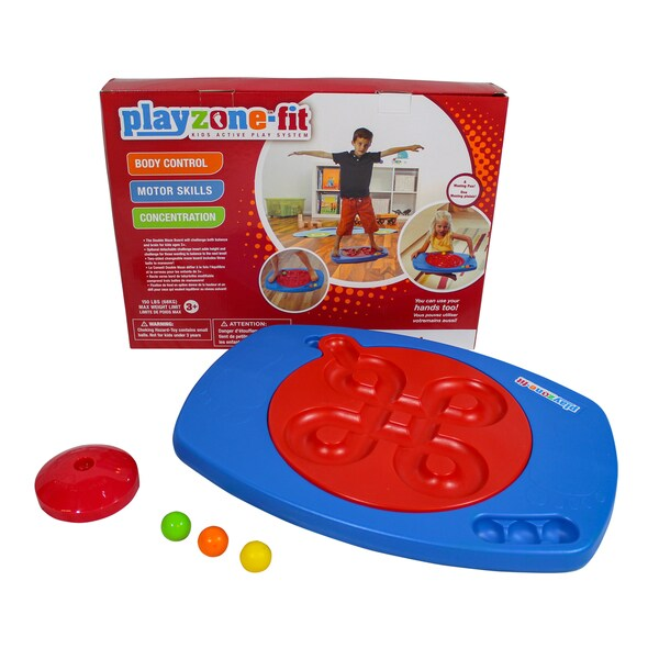 Playzone-Fit Double Maze Multicolor Balance Board