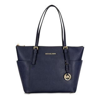 Michael Kors Blue Leather Admiral Tote Bag
