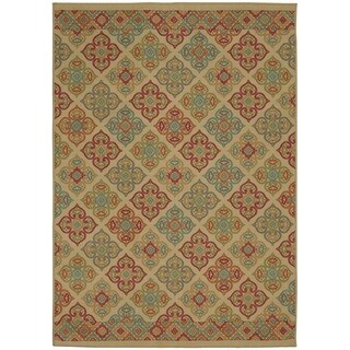 Mohawk Home Soho Mackenzie Beige Area Rug (5' x 7')