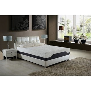 AC Pacific 12 Inch California King Hybrid Pocketed Coil And Gel Memory Foam  Mattress