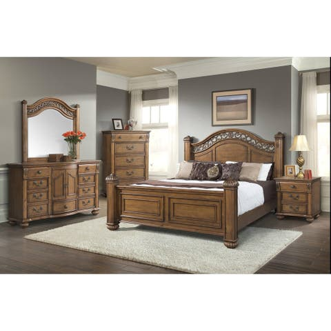 Picket House Furnishings Barrow Queen Poster 6PC Bedroom Set