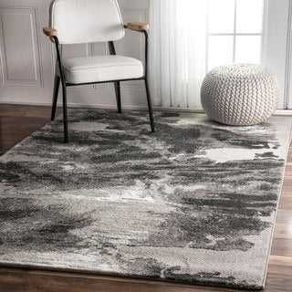 nuLOOM Contemporary Abstract Grey Rug (7'10 x 10')