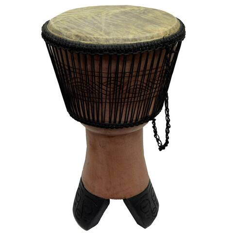 Handmade King's Djembe Drum On Stand (Ghana)