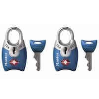 Master Lock 4689T Master Lock Luggage Padlock Assorted Colors 2-count