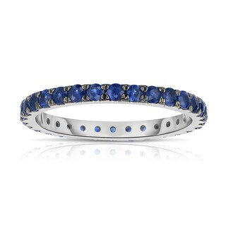 Noray Designs 14K White Gold Blue Sapphire Eternity Ring (1cttw)