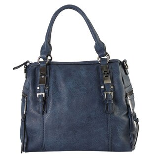 Diophy CZ-3722 Faux Leather Two-pocket Casual Tote