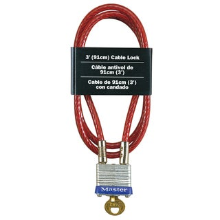 Master Lock 719D Laminated Padlock & Cable