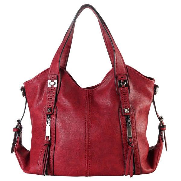 b6f1cc1e9752 Shop Diophy Faux Leather Double Front Pockets Hobo Handbag - Free ...