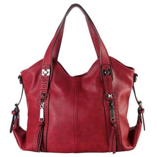 Diophy Faux Leather Double Front Pockets Hobo Handbag|https://ak1.ostkcdn.com/images/products/12820496/P19588198.jpg?impolicy=medium