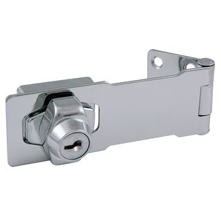 "Ultra Hardware 31815 4.5"" Chrome Key Locking Hasp"