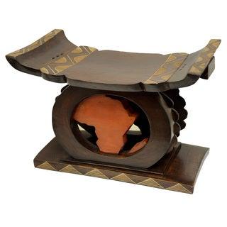 Handmade Africa-America Heritage Stool (Ghana)