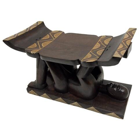 Handmade Ashanti Warrior Stool (Ghana)
