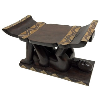 Hand-crafted Ashanti Warrior Stool (Ghana)