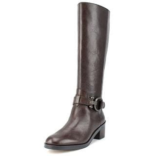 Coach Women's Carolina Brown Leather Boots