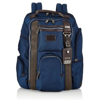 Tumi Alpha Bravo Kingsville Deluxe Baltic Blue Brief Pack Backpack