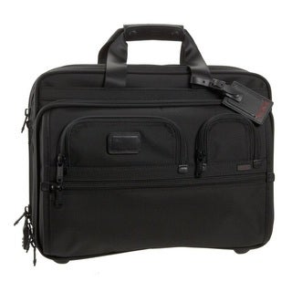 Tumi Alpha Deluxe Rolling Laptop Briefcase