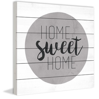 Marmont Hill - Home Sweet Home by Diana Alcala Painting Print on White Wood