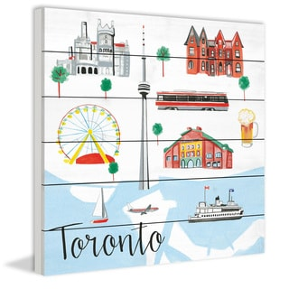 Marmont Hill - 'Toronto' by Molly Rosner Painting Print on White Wood