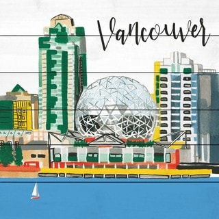 Marmont Hill - Handmade Vancouver Lakeview Painting Print on White Wood