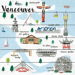 Marmont Hill - Handmade Vancouver Painting Print on White Wood