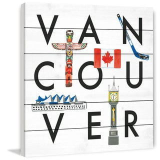 Marmont Hill - Handmade Vancouver Square Painting Print on White Wood