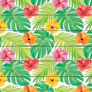Marmont Hill - 'Tropical Pattern' by Molly Rosner Painting Print on White Wood