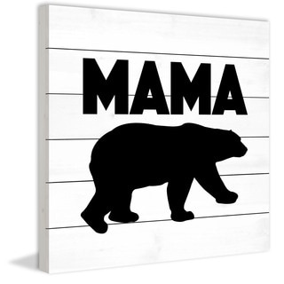 Marmont Hill - 'Mama Bear Black' by Diana Alcala Painting Print on White Wood