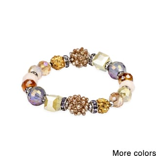 Saachi Beaded Shambala Stretch Bracelet (China)