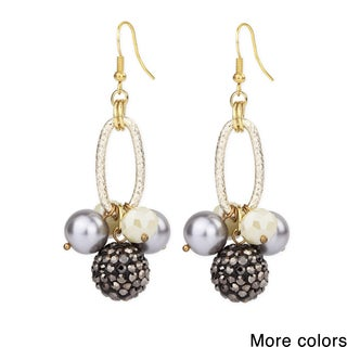 Saachi Shamballa Ball Drop Earrings (China)