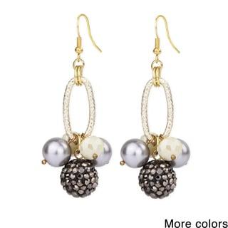 Handmade Saachi Shamballa Ball Drop Earrings (China)