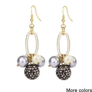 Handmade Saachi Ball Drop Earrings (China)