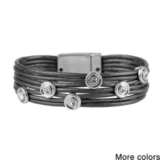 Saachi Leather Embellished Bracelet (China)