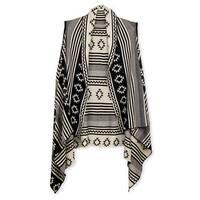 Handmade Veroma Women's Reversible Multi Geometric Open Front Vest (China)