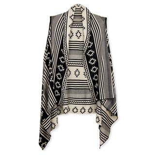 Handmade Saachi Women's Reversible Multi Geometric Open Front Vest (China)