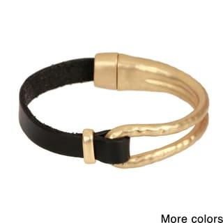 Saachi Metal Loop Leather Bracelet (China)