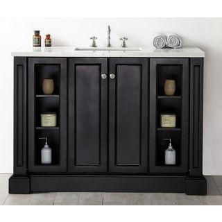 Legion Furniture 48-inch Espresso Single-Sink Vanity with Quartz Top