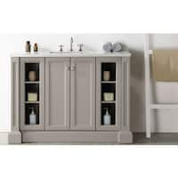 Legion Furniture 48-inch Warm Grey Single-sink Vanity with Quartz Top