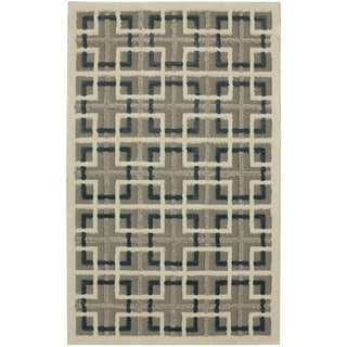 Mohawk Loft Square Off Lt Grey Area Rug (8' x 10') - 8' x 10'