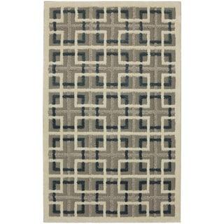 Mohawk Loft Square Off Lt Grey Area Rug (8' x 10') - 8' x 10'