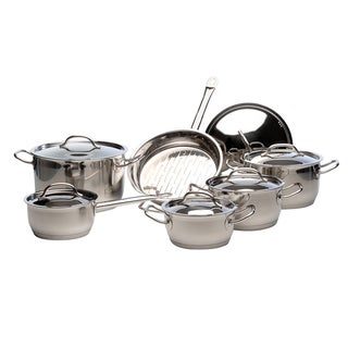 Arosa Silver-colored Stainless Steel 12-piece Cookware Set