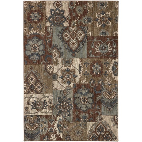 "Mohawk Studio Nuka Brown Area Rug (5'3 x 7'10) - 5'3"" x 7'10"""
