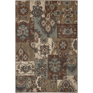 Mohawk Home Studio Nuka Brown Area Rug (5'3 x 7'10)