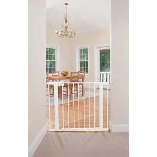 Link to Safety 1st White Metal Easy-install Walk-through Baby Gate (Pack of 2) Similar Items in Child Safety