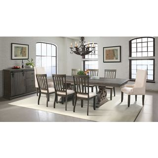Picket House Stanford Dining Table, 6 Side Chairs, 2 Parson Chairs & Server