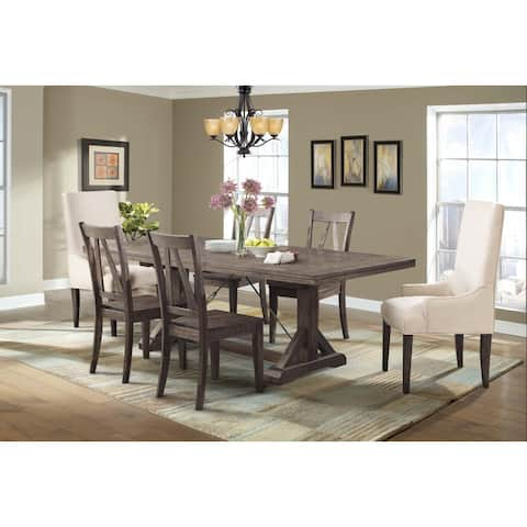 Picket House Furnishings Flynn 7PC Dining Set-Table, 4 Wooden Dining Chairs & 2 Parson Chairs