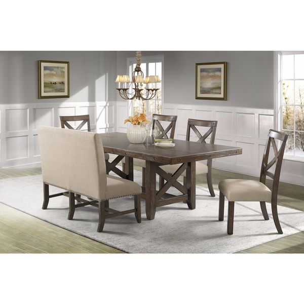 Picket House Furnishings Francis 6PC Dining Set Table 4 X Back Chairs