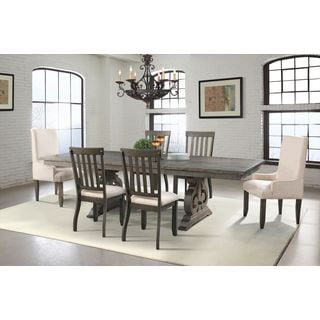 Picket House Stanford Dining Table, 4 Side Chairs, 2 Parson Chairs