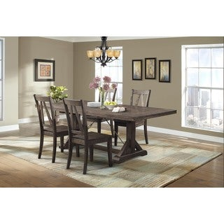 Picket House Flynn Dining Table, 4 Wooden Side Chairs